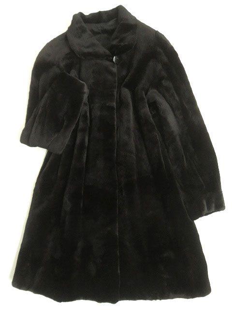 【中古】極美品▼2 SAGA MINK サガシェアードミンク 本毛皮コート ブラック F 毛質柔らか◎ レディース