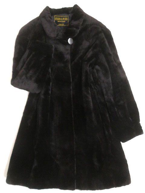 【中古】極美品▼3 SAGA MINK サガシェアードミンク 本毛皮コート ブラック F 毛質柔らか◎ レディース
