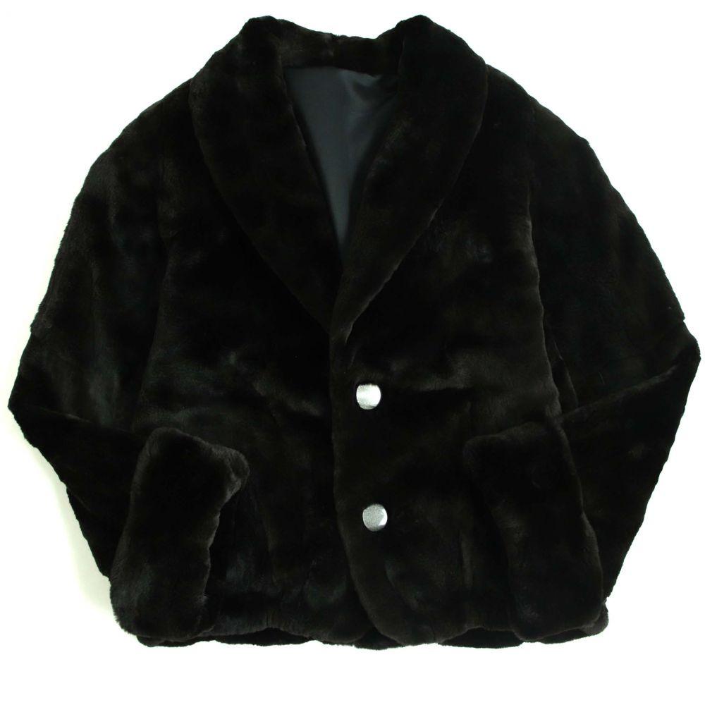 【中古】極美品▼メンズ用 MINK シェアードミンク リバーシブル 本毛皮ブルゾン/ジャケット ブラック 毛質艶やか・柔らか◎