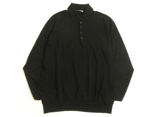 【中古】美品▽BOTTEGA VENETA ボッテガヴェネタ 長袖 ニット/セーター ブラック 46 イタリア製 正規品 シンプルなデザイン◎