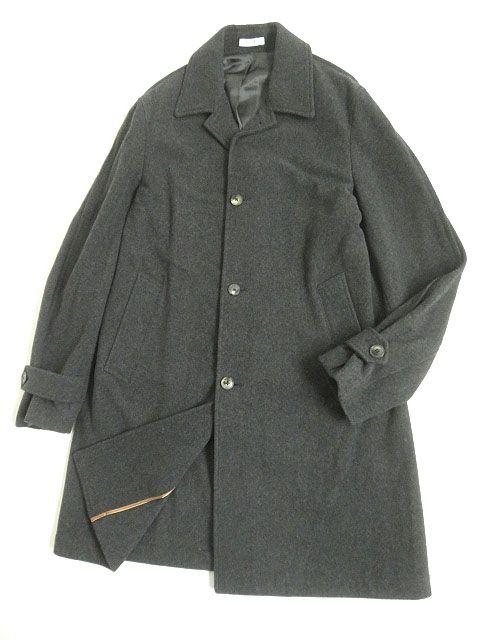 【中古】極美品▽BOGLIOLI ボリオリ OC0041 チェスターコート グレー 46 メンズ イタリア製 シンプルなデザイン◎