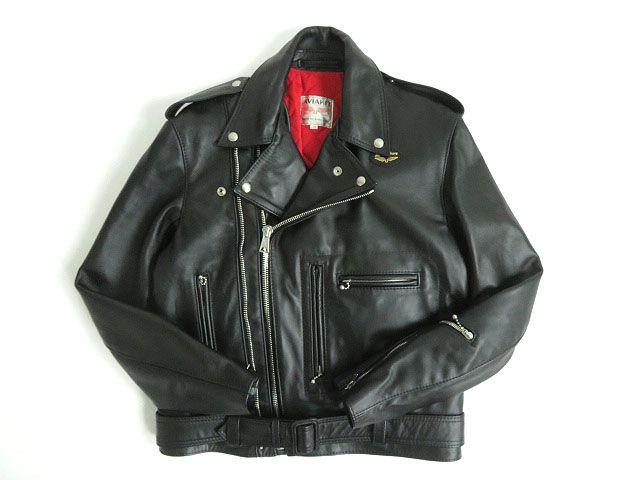 【中古】極美品☆ルイスレザー Lewis Leather サイクロン 441 オーバルパッチ レザーライダースジャケット ブラック 36 イングランド製 メンズ