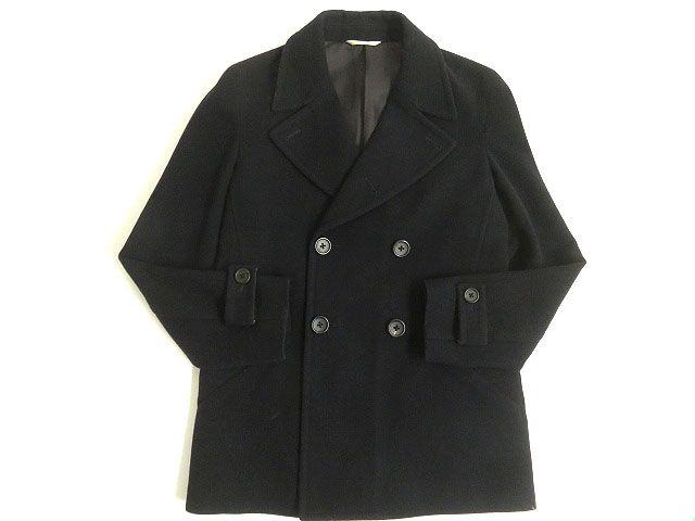 【中古】良品◎Paul Smith Collection ポールスミスコレクション ウール100% Pコート ダークネイビー S 正規品 日本製 カジュアル◎