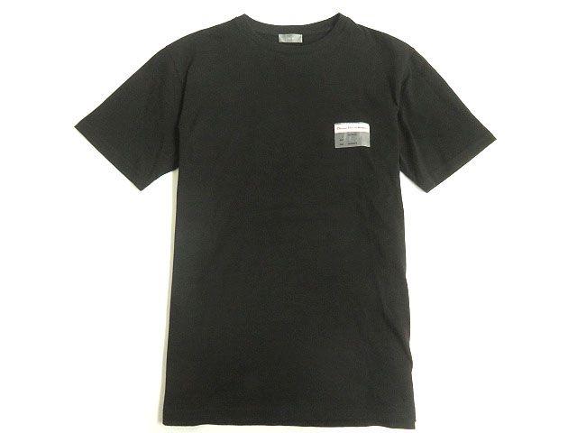 【中古】美品◎2019SS Dior HOMME ディオールオム ビジターパッチ付き 半袖 コットンTシャツ ブラック XS 正規品 イタリア製