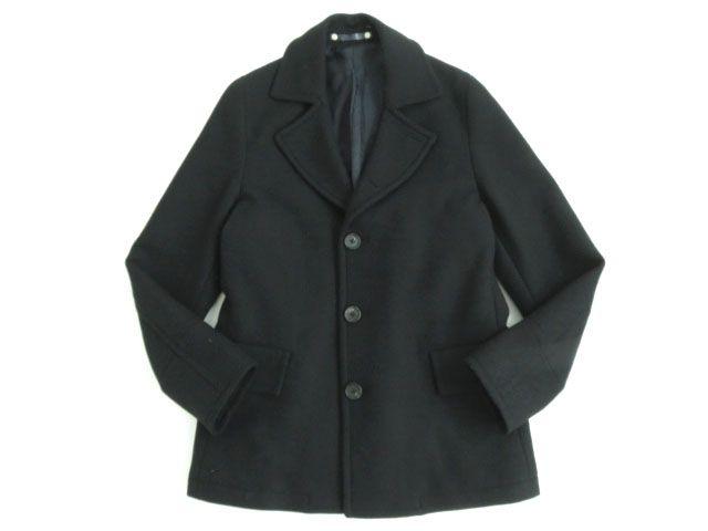【中古】美品●ポールスミス Paul Smith ウール ハーフコート ブラック Mサイズ 正規品 シンプルなデザイン♪