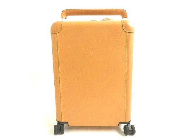 【中古】極美▽ルイヴィトン M23216 ホライゾン55 TSAロック搭載 ヌメ革 スーツケース 4輪 ナチュラル シルバー金具 37L 仏製 カバー付