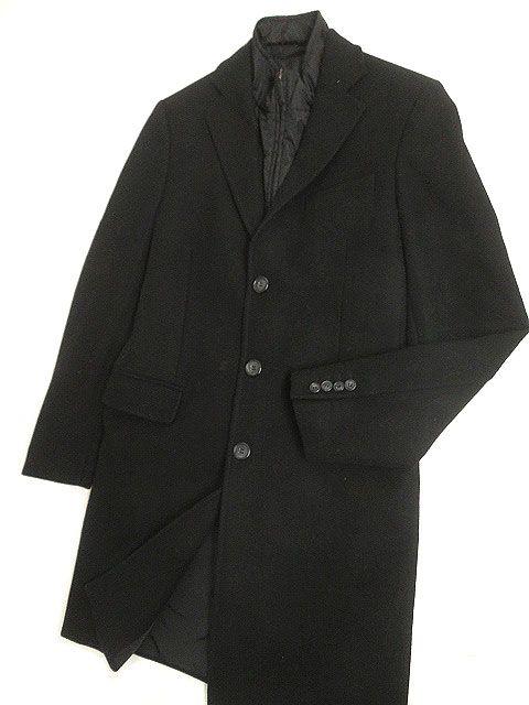 【中古】美品◎2013年製 PRADA プラダ SGH151 レイヤード チェスターコート ブラック 46 正規品 ハンガリー製 タグ付き