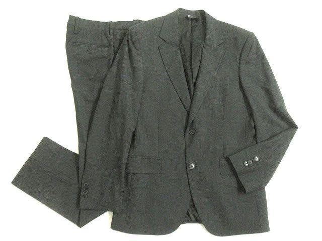 【中古】美品▽黒タグ DOLCE&GABBANA ドルチェ&ガッバーナ シングルスーツ グレー 48 イタリア製 ビジネスシーンなど◎