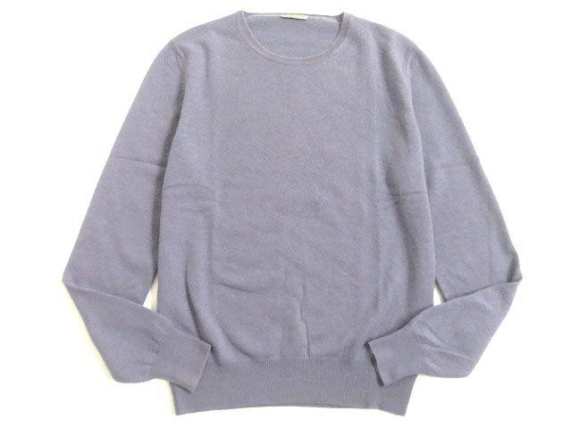 【中古】良品▽BOTTEGA VENETA ボッテガヴェネタ カシミヤ100% 長袖 ニット/セーター パープル 44 イタリア製 正規品