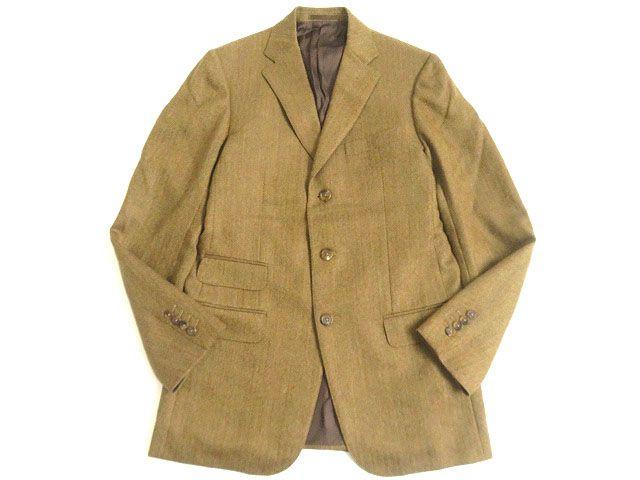 【中古】極美品▽dunhill ダンヒル BELGRAVIA FIT ヘリンボーン柄 ツイードジャケット/シングルジャケット ブラウン系 48 メンズ イタリア製 正規品