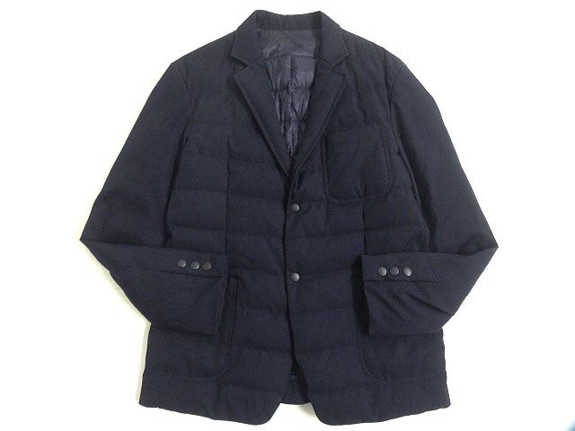【中古】美品◎17AW MONCLER モンクレール VOLTAIRE/ヴォルテール ダウンテーラードジャケット ダークネイビー 1 正規品 ルーマニア製