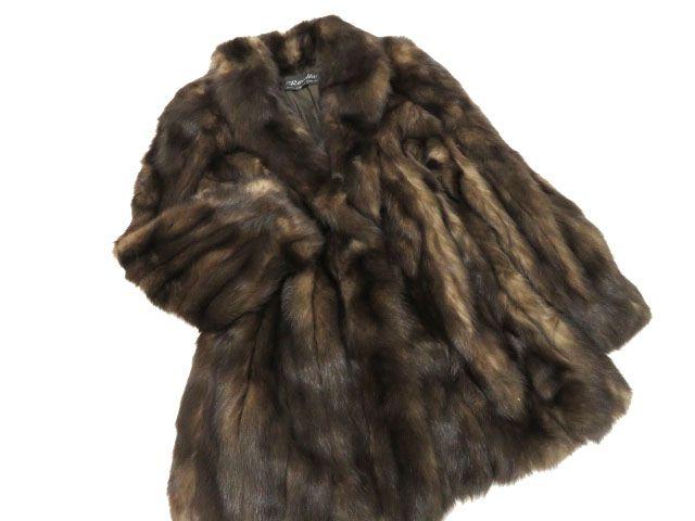 【中古】極美品▼Revillon SABLE レビオン ロシアンセーブル 本毛皮コート 毛質艶やか・柔らか・ボリューム◎