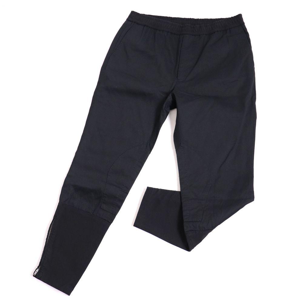 546443 グッチ 50 ブラック シンプルなデザイン◎ 【中古】良品▽GUCCI メンズ イタリア製 ドリルパンツ/ジョガーパンツ 正規品