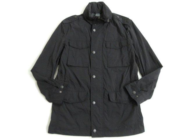 【中古】良品●バーバリー ロンドン フード入り ZIPジャケット ブラック Lサイズ 正規品 ポケッタブル機能付き