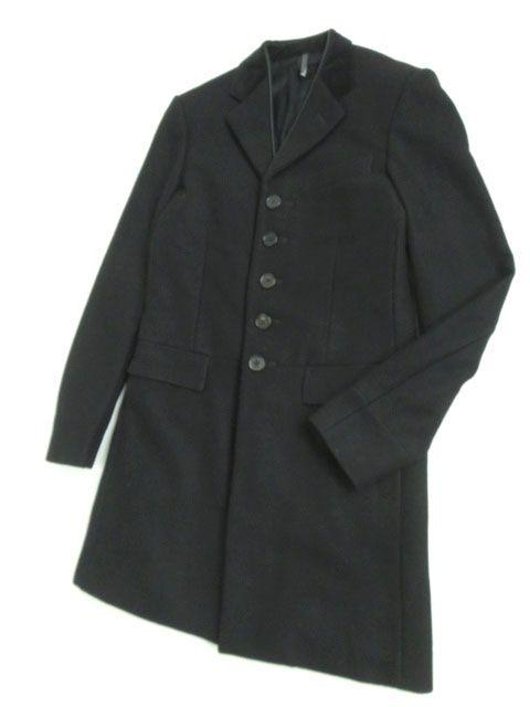 【中古】美品★06AW ディオール オム Dior HOMME エディ期 カシミヤ混 チェスターコート ブラック 44 正規品