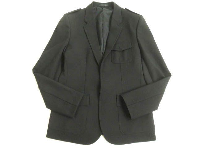 【中古】極美品▽2016年製 エンポリオ アルマーニ 比翼仕立て シングルジャケット/テーラードジャケット 黒 50 伊製 正規 ハンガー・ガーメント付き