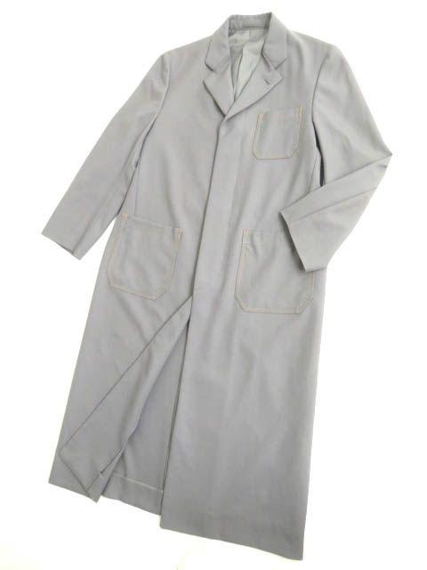 【中古】極美品▽コムデギャルソン オム 1999年 比翼仕立て チェスターコート/ロングコート グレー M 正規品 シンプルなデザイン◎