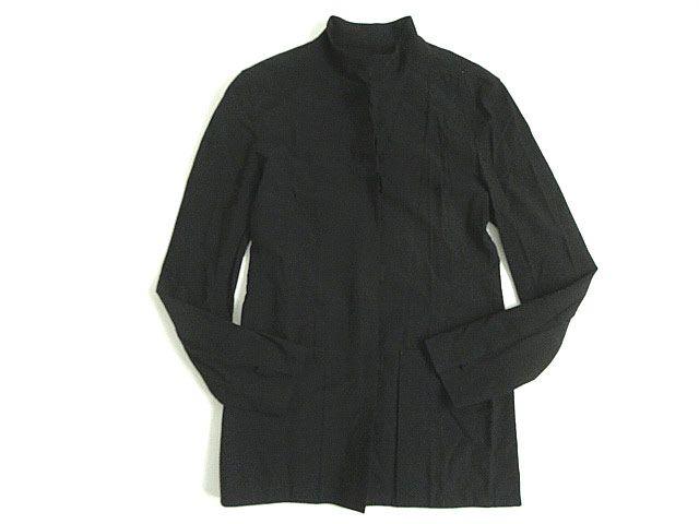 【中古】美品★日本製 ジャンポールゴルチェ オム ヴィンテージ シャツジャケット ブラック 48 正規品 ストレッチ◎ メンズ
