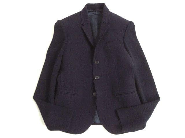 【中古】美品●ニールバレット NeIL BarreTT 切換デザイン SUPER SKINNY FIT ウールジャケット ダークネイビー 46 イタリア製 正規品