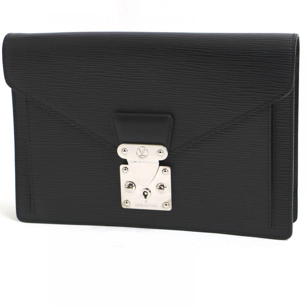 【中古】極美品● Louis Vuitton ルイヴィトン M52762 セリエドラゴンヌ クラッチバッグ エピ ノワール フランス製 保存袋付き
