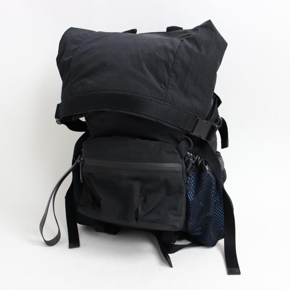 【中古】極美品☆19AW ボッテガヴェネタ 571596 ナイロン メッシュポケット バックパック ブラック 伊製 保存袋付