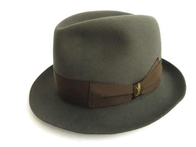 f550c2c4ed4802 With product made in unused article ☆ Italy Borsalino Borsalino Rain Proof  Line rabbit wool felt ...