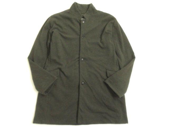 【中古】良品▽CHRISTIAN PEAU クリスチャンポー マオカラー コート ブラウン系 38 シンプルなデザイン◎