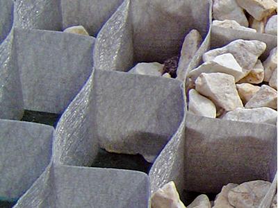 砂利拡散を防ぐ! グランドグリッド 1本 防草資材 防草シート ザバーン プランテックス グリーンビスタ グリーンフィールド 雑草対策 約0.38平米分 砂利 地盤安定