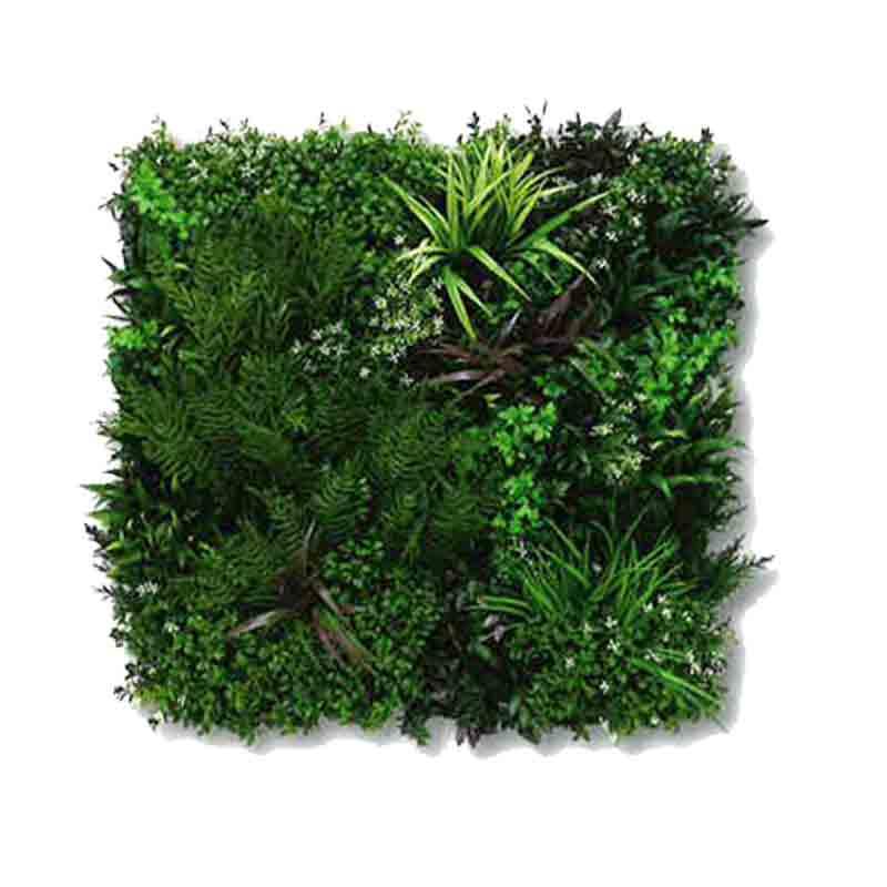 人工壁面緑化 ビスタグリーン 80cm×80cm 3枚セット 資材 ザバーン プランテックスグリーンフィールド UV加工 メンテナンスフリー