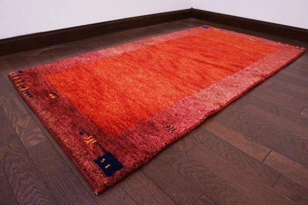 【USED】ベッドサイドやリビングに◎ オールド絨毯 トライバルラグ ウール ギャッベ アンティーク ビンテージ 【RAGG219】【中古】