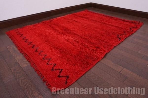 【USED】モロッコ絨毯 オールド トライバルラグ ウール ギャッベ アンティーク ビンテージ 【RAGG261】【中古】