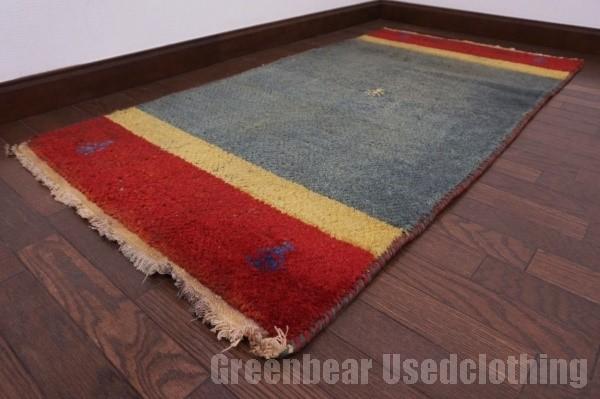 【USED】ベッドサイドやリビングに◎ オールド絨毯 トライバルラグ ウール ギャッベ アンティーク ビンテージ 【RAGG291】【中古】