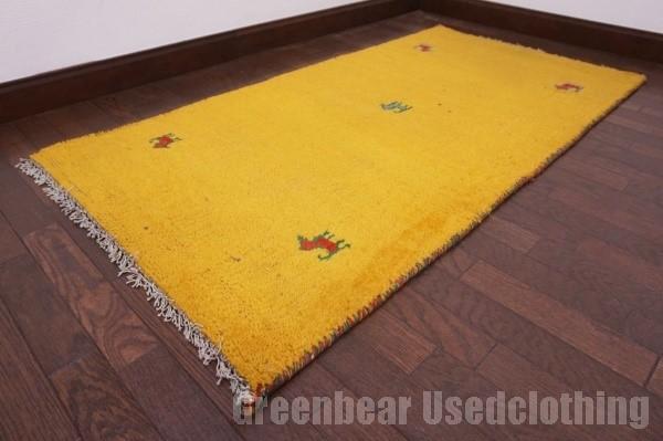 【USED】ベッドサイドやリビングに◎ オールド絨毯 トライバルラグ ウール ギャッベ アンティーク ビンテージ 【RAGG302】【中古】