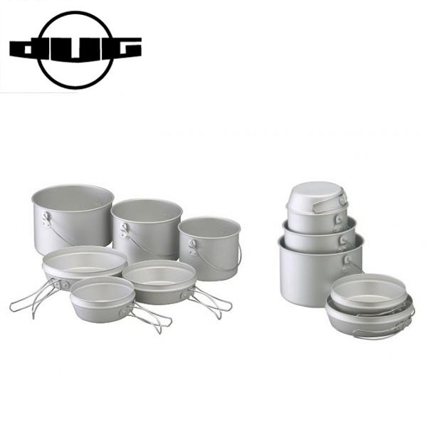 DG-0103 DUG 定価の67%OFF ダグ 焚火缶 3点セット クッカー サバイバル アウトドア キャンプ大鍋 売り出し トライポッド対応