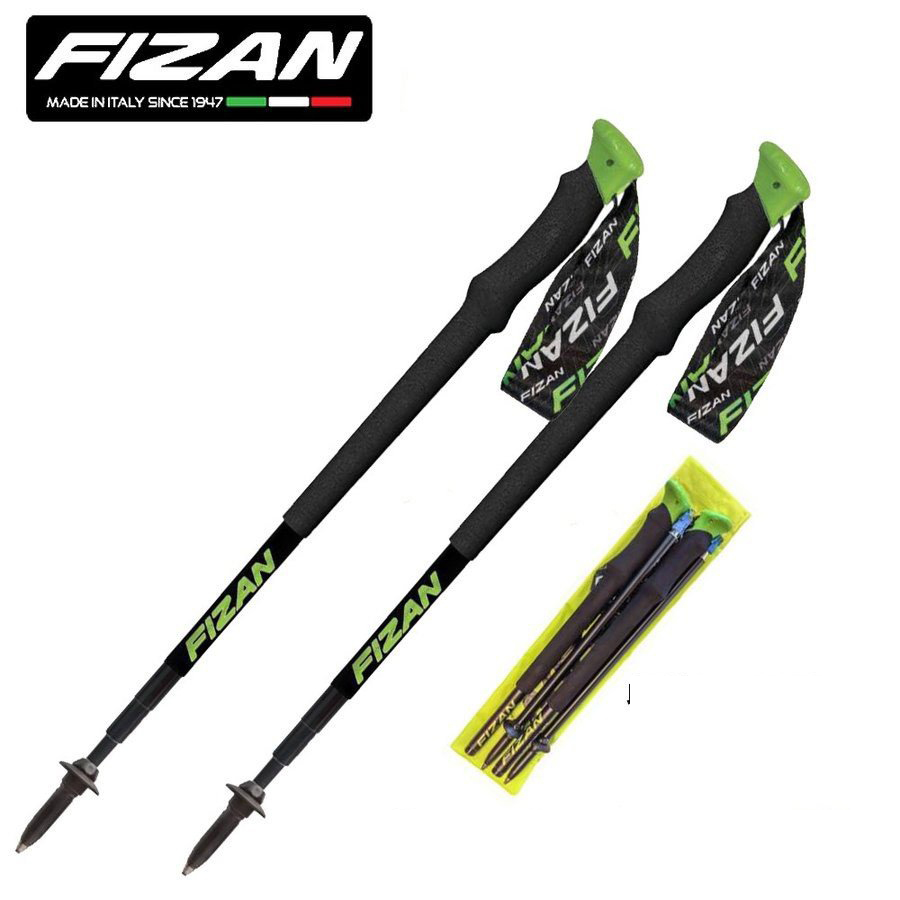 FIZAN フィザン トレッキングポール アジャスタブル 可変4段 49-125cm TRAVELLER 2本セット ケース付 FZ-7106 軽量 アルミニウム