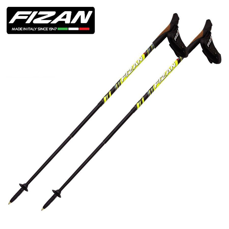 100~125cmアジャスタブル FIZAN フィザン ノルディックウォーク NWコンパクト4 2本セット FZ-N04-WYL