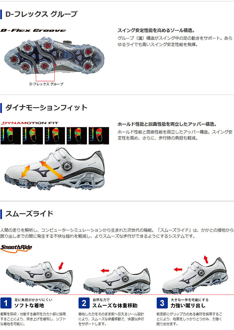 ミズノジェネム 007 boa 3E men golf shoes 51GM1700 ◇ golf shoes shoes GENEM Boa  shoes footwear golf footwear white X gray white X brown EEE with point Up+  ... 5f175e11b62