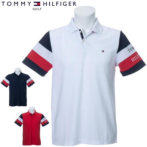 トミーヒルフィガー ゴルフ ウェア メンズ シグネチャー ストライプスリーブ 半袖ポロシャツ THMA014 2020年春夏モデル M-XL 【あす楽対応】
