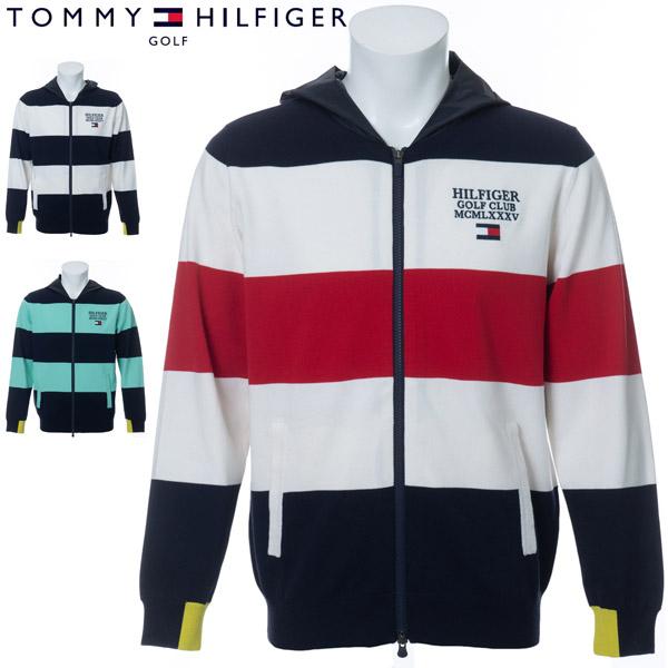 トミーヒルフィガー ゴルフ ウェア メンズ ボーダー フルジップ ニットパーカー THMA020 2020年春夏モデル M-LL 【あす楽対応】