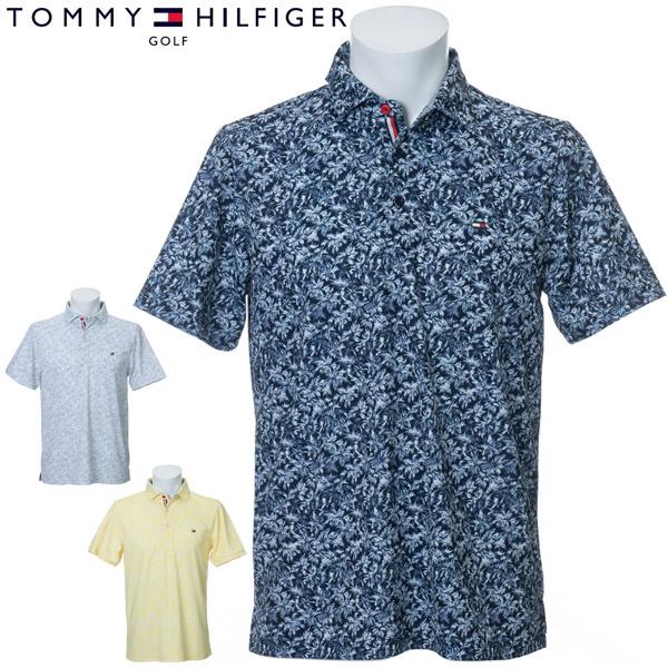 トミーヒルフィガー ゴルフ ウェア メンズ フラワープリント 半袖ポロシャツ THMA029 2020年春夏モデル M-XL