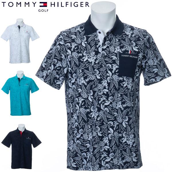 トミーヒルフィガー ゴルフ ウェア メンズ ボタニカル プリンテッド 半袖ポロシャツ THMA033 2020年春夏モデル M-XL
