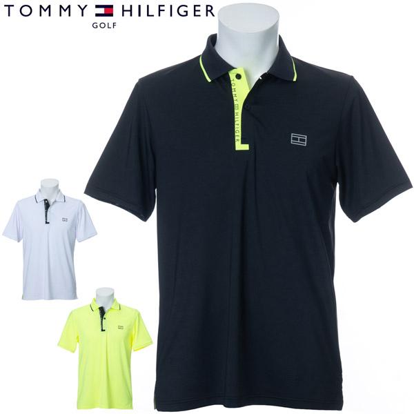 トミーヒルフィガー ゴルフ ウェア メンズ LOWER FLY ロゴ 半袖ポロシャツ THMA041 2020年春夏モデル M-XL