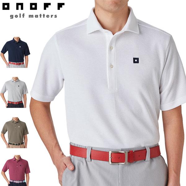 オノフ メンズ ゴルフウェア ワイドカラー 半袖ポロシャツ OQP101 2020年春夏モデル M-LL 【あす楽対応】