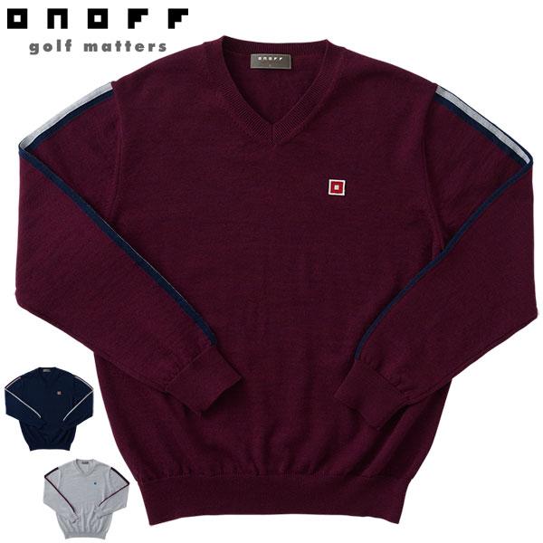 ゴルフウェア セーター シルクタッチ ORE101 オノフ 2020年秋冬モデル 【あす楽対応】 メンズ M-LL Vネック