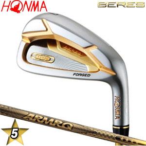 特注カスタムクラブ 本間ゴルフ 2019年モデル アイアン べレス ARMAQ 42 5スター カーボンシャフト 単品[#4、#5、#6、#7、#8、#9、#10、#11、AW、SW]