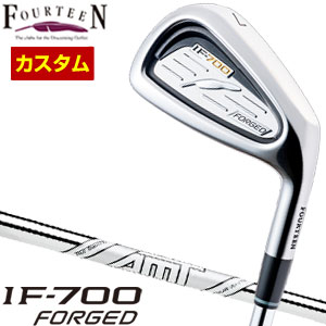 特注カスタムクラブ フォーティーン IF-700 Forged アイアン AMT TOUR WHITE シャフト 5本セット[#6-P]
