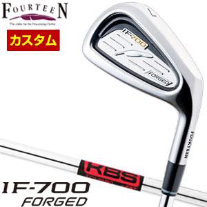 特注カスタムクラブ フォーティーン IF-700 Forged アイアン KBS TOUR 90 シャフト 5本セット[#6-P]