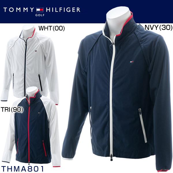 トミー ヒルフィガー ゴルフ メンズウエア 2WAY ウィンドジャケット THMA801 2018年秋冬モデル M-LL 【あす楽対応】