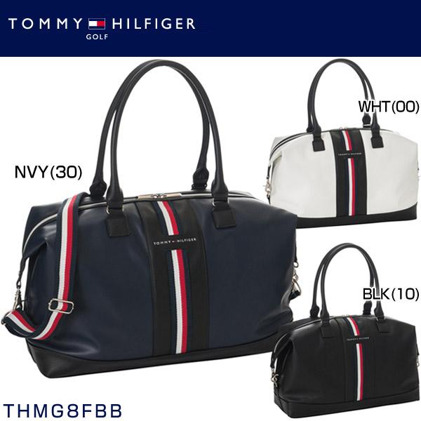 トミー ヒルフィガー ゴルフ フロント テープ ボストンバッグ THMG8FBB