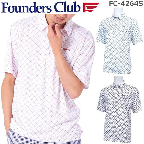 070dc3927a5c Founder scrub men golf wear fawn bias check short sleeves polo shirt  FC-4264S spring of 2019 summer model M-O